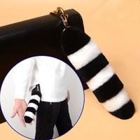 Nieuwe Wit Sleutelhanger Staart Bag Charm Hanger Elegante Vrouwen Staart Sleutelhanger Bag Decoratie Hangers