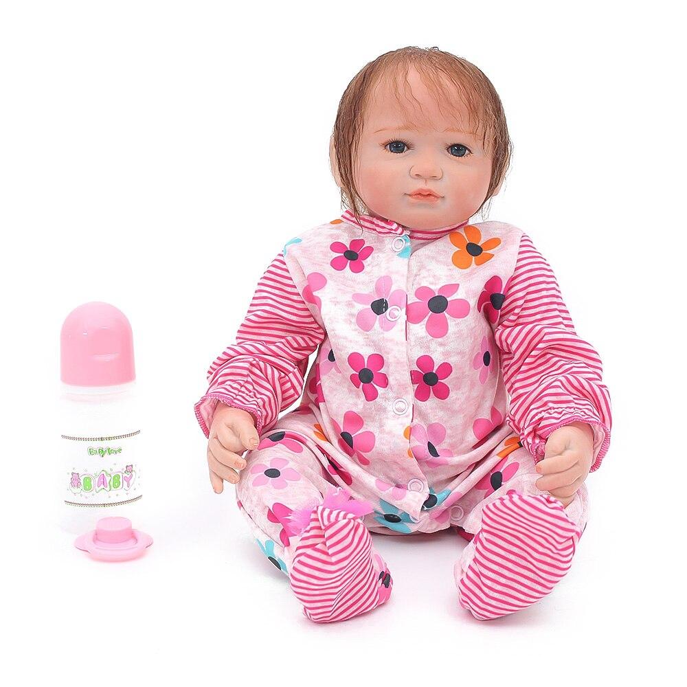 46 cm silicone bébé poupées Reborn poupée jouet 18 pouces simulationnewborn vinyle fait à la main réaliste enfant jouets cadeau tout-petits offre spéciale poupée