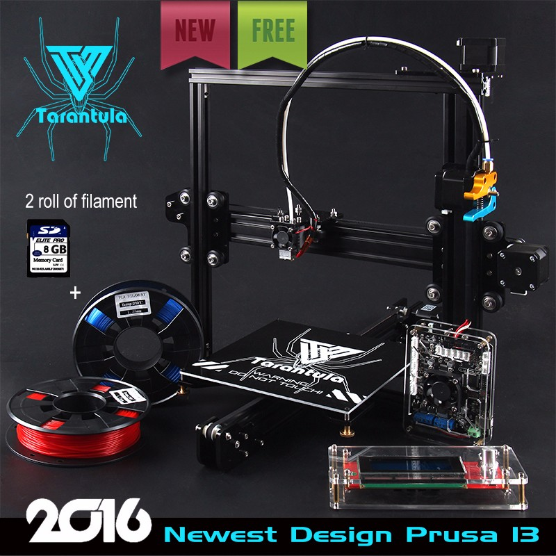 2017 3D Printer Kits TEVO Tarantula I3 Aluminium Extrusion 3D Printer kit 3d printing 2 Rolls Filament 8GB SD card LCD As Gift