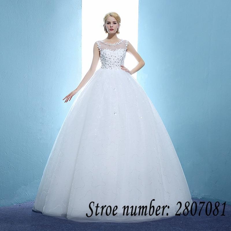 Aliexpress.com : Buy Custom Made O neck Flowers Wedding Dresses ...