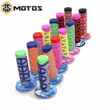 "ZS MOTOS 6 Colores grip handle bar apretones de La Motocicleta Motocross DIRT PIT BIKE MOTOCROSS 7/8 ""MX Apretones de MANILLAR de GOMA de Doble Densidad"