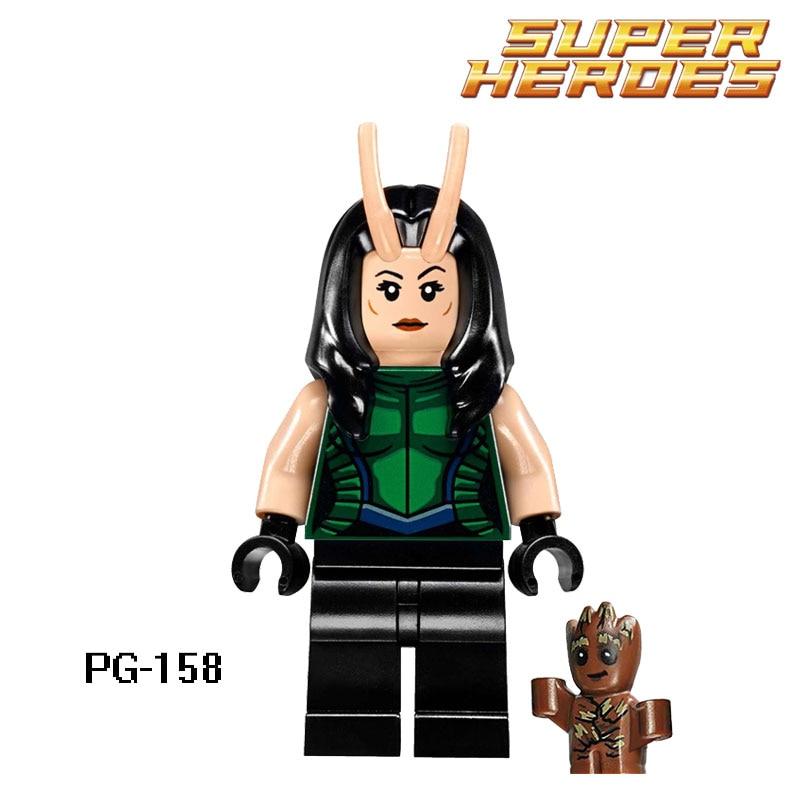 Building Blocks Mantis Lorelei Groot Guardians of the Galaxy Bounty Hunter Star Wars Super Hero Bricks Kids DIY Toys Hobbies new funko pop guardians of the galaxy tree people groot