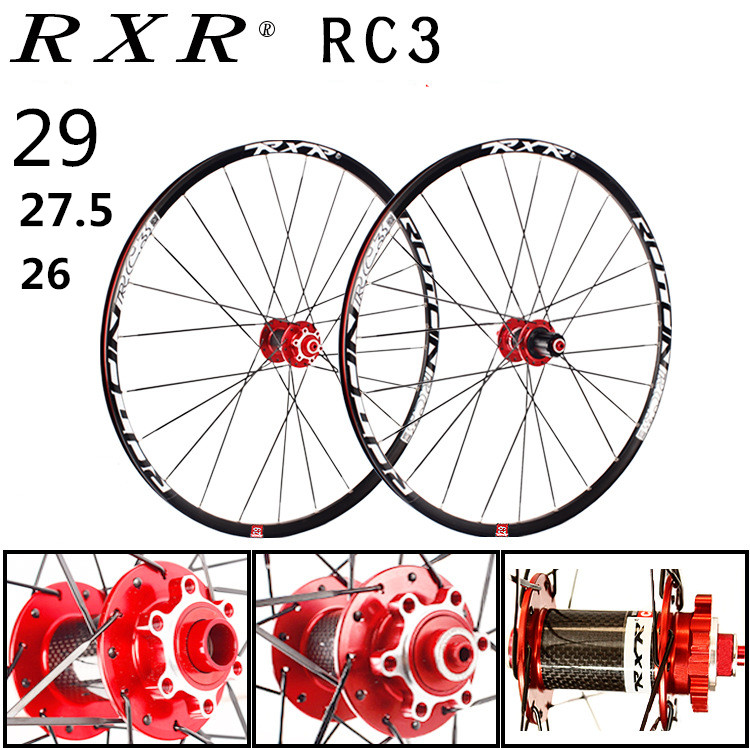 2018 MTB Mountain Bike Carbon fiber drum 26er 27.5er 29er Six Holes Disc Brake bicycle Wheel 7/11 Speed Alloy Rim Wheelset