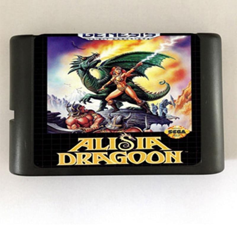 Alisia Dragoon 16 bit MD Game Card For Sega Mega Drive For SEGA Genesis