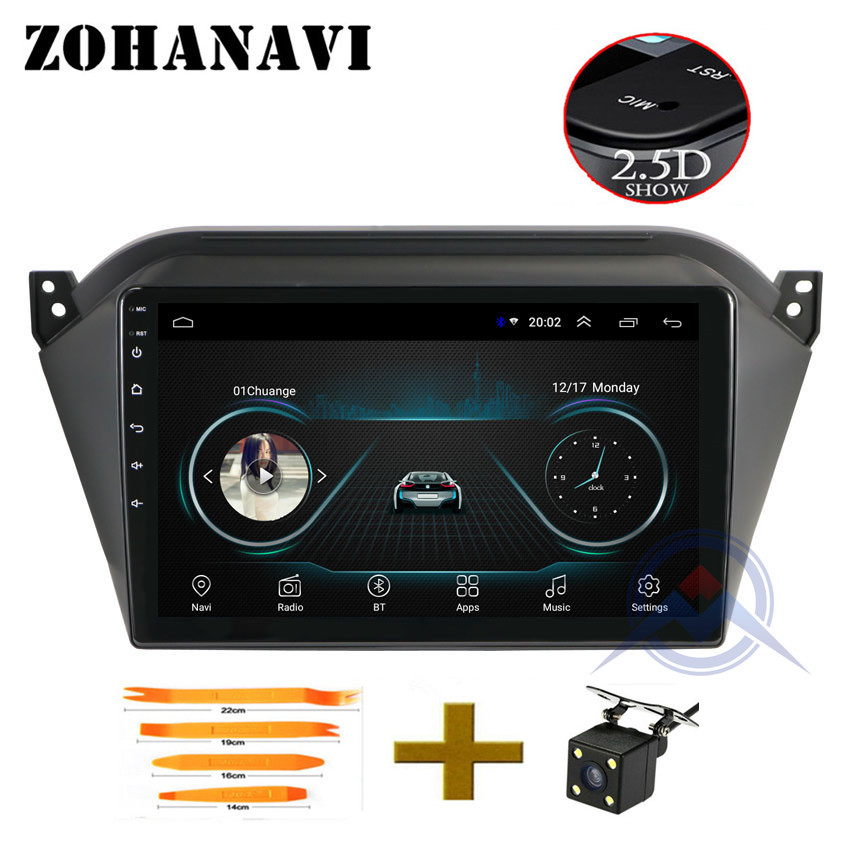 ZOHANAVI Android 2 5D GPS Navigation Radio for JAC S2 t40 2018 Car DVD Player for