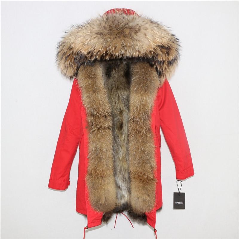 OFTBUY 2019 Winter Jacket Women Long Parka Real Fox Fur Coat Natural Raccoon Fur Collar Hood Thick Warm Streetwear Parkas New 61