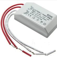 Free Shipping no flicker 60W 220V 12V Halogen LED Lamp Electronic Transformer Power Supply Driver Adapter Converter