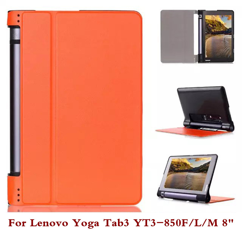 Pu Leather Tablet Case Pc Back Cover For Lenovo Yoga Tab3 YT3-850F YT3-850M YT3-850L 8 Stylus As Gift 3 in 1 new ultra thin smart pu leather case cover for 2015 lenovo yoga tab 3 850f 8 0 tablet pc stylus screen film