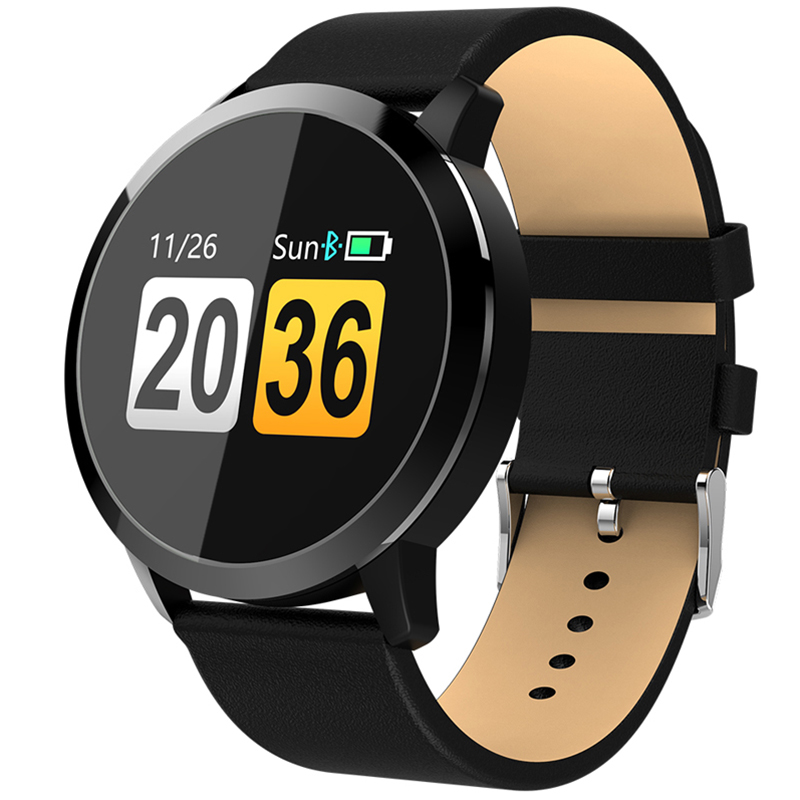 NEWWEAR Q8 Smart Watch NRF52832 Chip Blood Oxygen / Sleep / Heart Rate Monitor smart watch men relogio watches цена