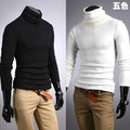 Men's clothing basic turtleneck shirt slim male sanded turtleneck long-sleeve T-shirt 100% cotton thermal underwear