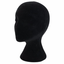 28cm Height Female Foam Mannequin Manikin Head Model Head Mould  Wigs Hair Glasses Hat Display Stand Black