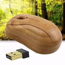 2.4 GHz Receptor Inalámbrico USB Ratón Óptico De Bambú Para PC de Sobremesa Portátil # R179T # envío de La Gota