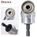 "Binoax 105 Graus 1/4 ""Electric Broca Hex Hex Bit chave de Fenda Motorista Ângulo Ajustável Titular Soquete Adaptador ferramentas # P00038 #"