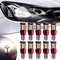 10 Stks Auto-Styling T10 W5W 194 168 57SMD Rode LED 4014 Auto Auto Canbus Foutloos Marker Lamp Klaring Verlichting Interieur Licht 12 V