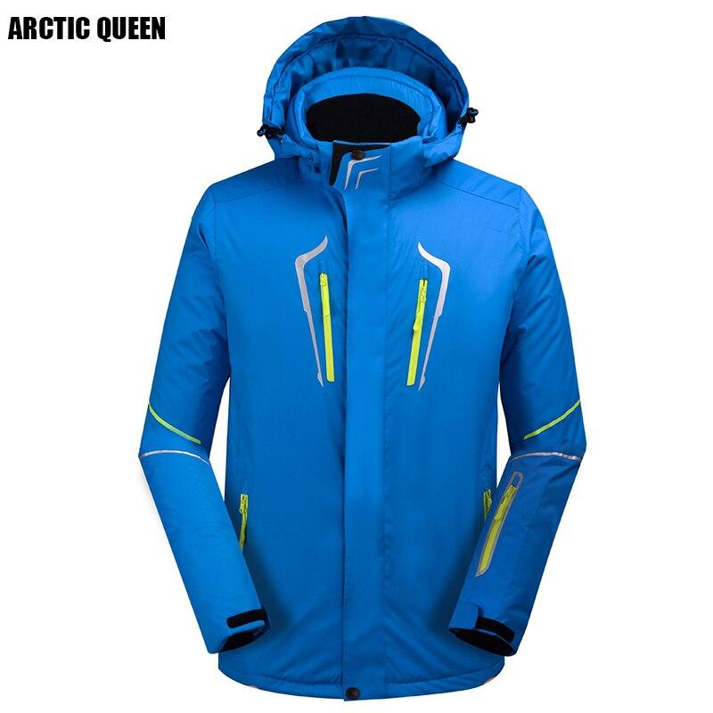 2017/8 Hiver Hommes Veste de Snowboard Couleur Épais Étanche Ski Veste 4 Couleur Taille S-XL
