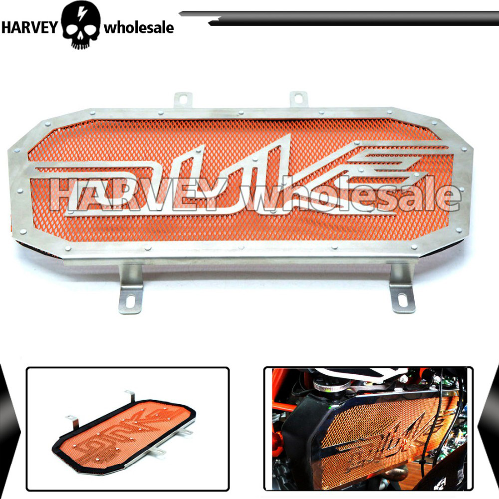 2017 New Hot Orange Motorbike Stainless Steel Moto Motorcycle Radiator Grille Guard Cover Protector For KTM duke 390 duke 200 arashi motorcycle radiator grille protective cover grill guard protector for 2008 2009 2010 2011 honda cbr1000rr cbr 1000 rr