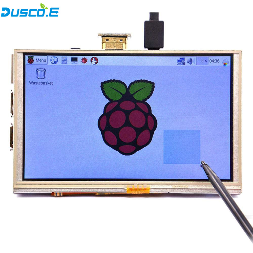 5 pouce LCD HDMI Écran Tactile Affichage 800x480 TFT LCD Module de Panneau avec Tactile Stylo pour Raspberry Pi 3 modèle B/B + Banane Pi chaude - 2