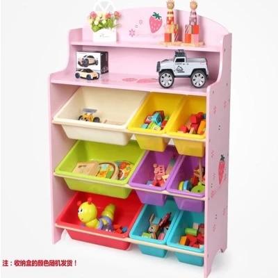 kids plastic toys shelf baby wood toys cabinet toy storage rack