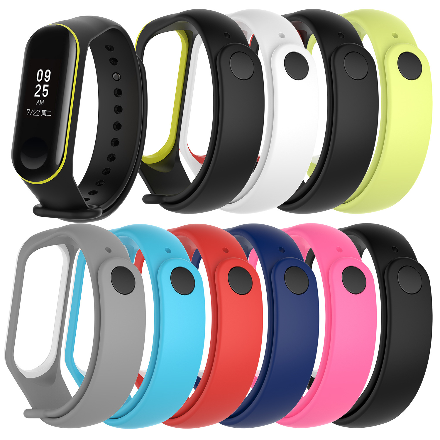 For Mi Band 3 4 Bracelet MultiColor Strengthen Soft Strap For Xiaomi Mi Band 4 Replacement Strap For Mi Band3 4 Silicone Strap