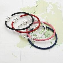 Лучший!  Mingshang оптовая базовая цепь DIY браслет браслет из натуральной кожи одного пять цветов имеют  Лучший!