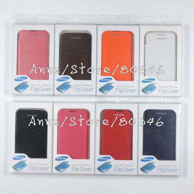 Cell phone case For Samsung Galaxy Premier i9260 flip leather Battery housing back case + retail package, wholesale 100pcs