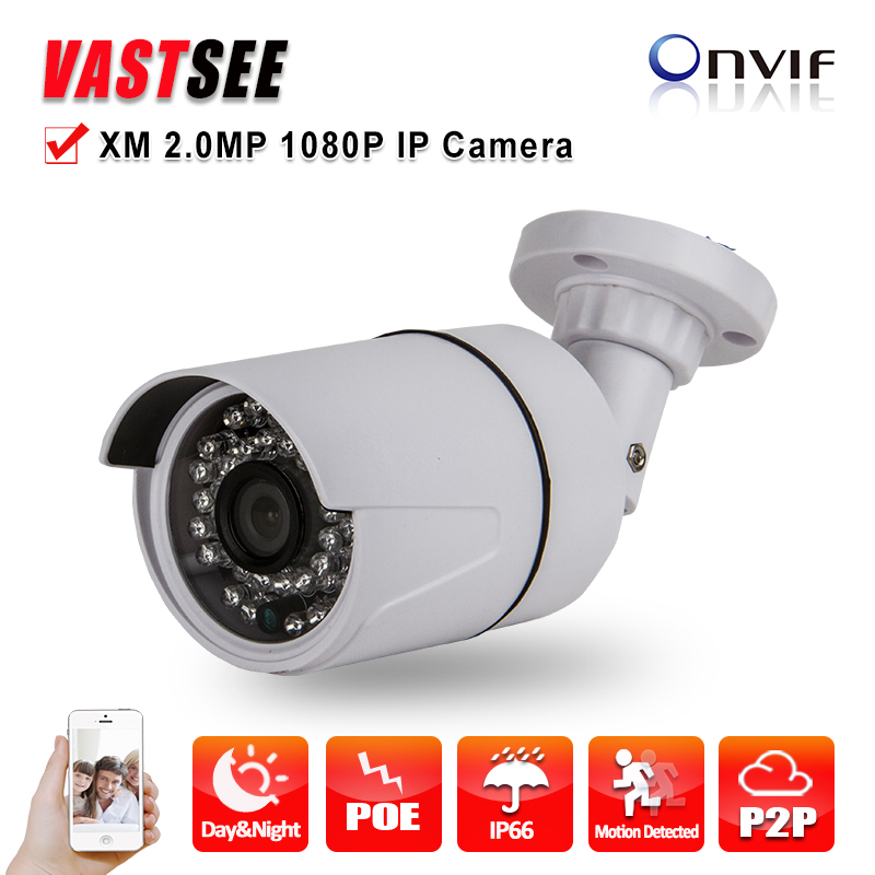 ФОТО 1920*1080 mini outdoor IP camera POE ONVIF Night Vision P2P HD lens Plastic Bullet Security CCTV cameras de seguranca
