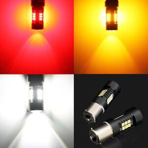 Image 5 - 2pcs P21W LED 1156 BA15S LED Bulbs Car Lights 1200Lm Turn Signal Reverse Brake Light R5W 3030 LEDs 12V 24V Automobiles Lamp D040