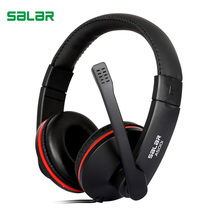 Salar A500I Adjustable 3.5mm Headset Gaming Headphones Low Bass Stereo with Mic Wired for PC Laptop Computer