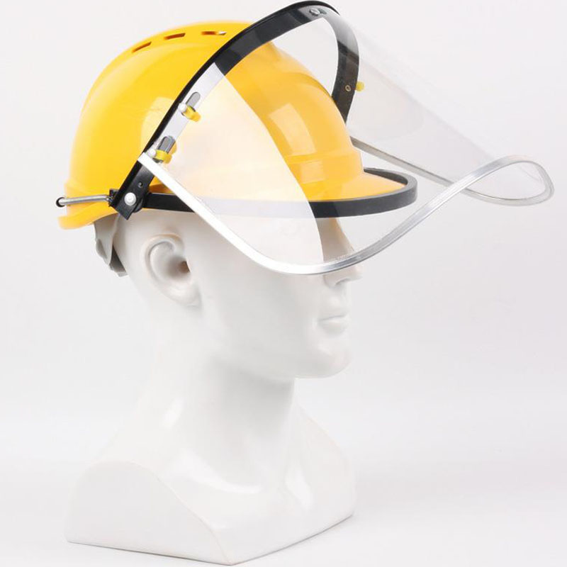 Safety Helmet Welding Face Mask Cutting Welder Helmet Work Protection Neck Helmet Dust-proof Splash-proof Grinding DMZ013