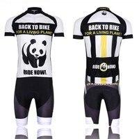 Di alta qualità di stile panda ciclismo bike clothing jersey della bici di usura manica corta ciclismo jersey