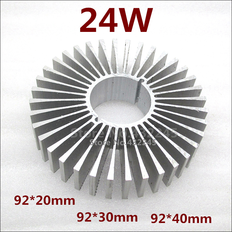 10 pieces 24W Aluminium Heat Sink LED 5730 Plate Cooling. PCB Radiator Cooler 88X50mm. . - Gree Think Lighting store