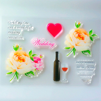 YLCS254 Wedding Silicone Clear Stamps For Scrapbook DIY Album Paper Card Decoration Embossing Folder Craft Rubber Stamp 11*16cm