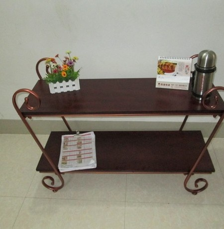Ordinaire Simple And Stylish Wrought Iron Table TV Cabinet Wood TV Stands Table Side  A Few Corner