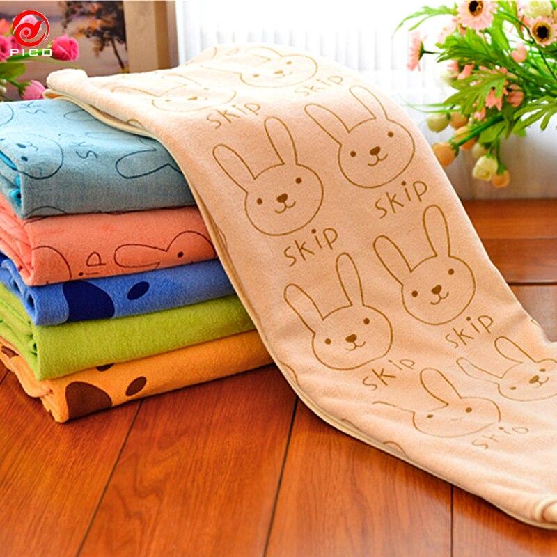 Colorful cartoon beach towel Microfiber kids bath cooling
