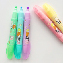 5 pcs Cartoon animal party color highlighter marker pen set Cute panda bear Stationery Office accessories School supplies A6204 5 pcs free ink highlighter pen set fluorescent color power line marker stationery items office accessories school supplies a6054