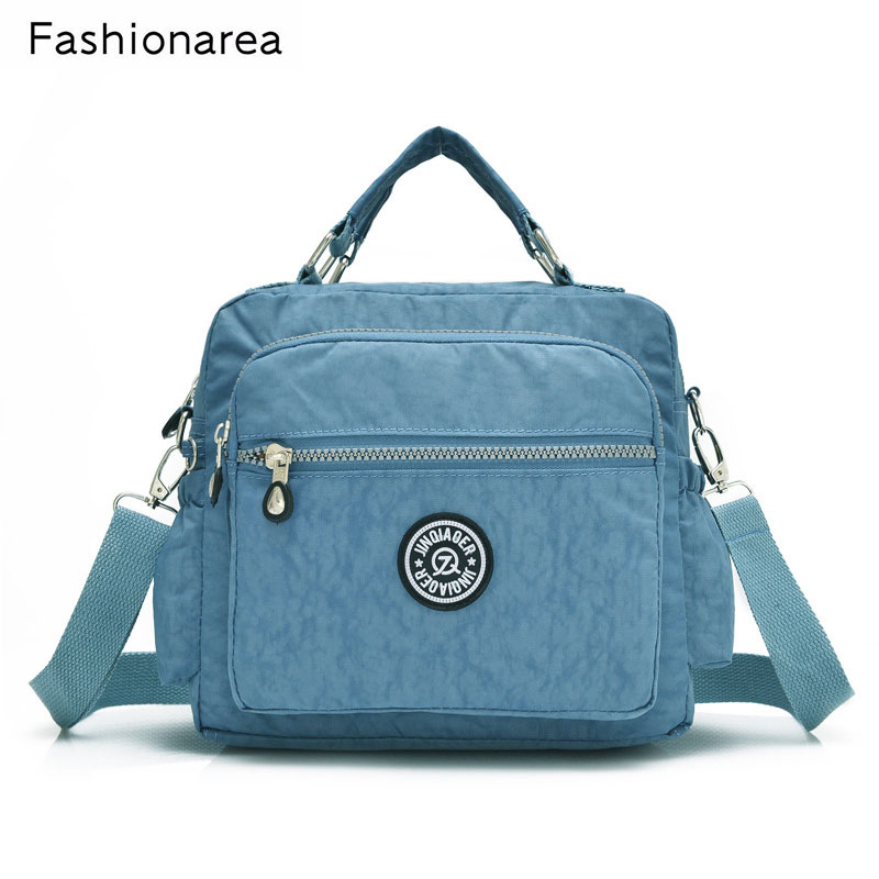 Solid Color Famous Brand Top-handle Bag Handbags Large Capacity Women Nylon Mommy Bag Ca ...