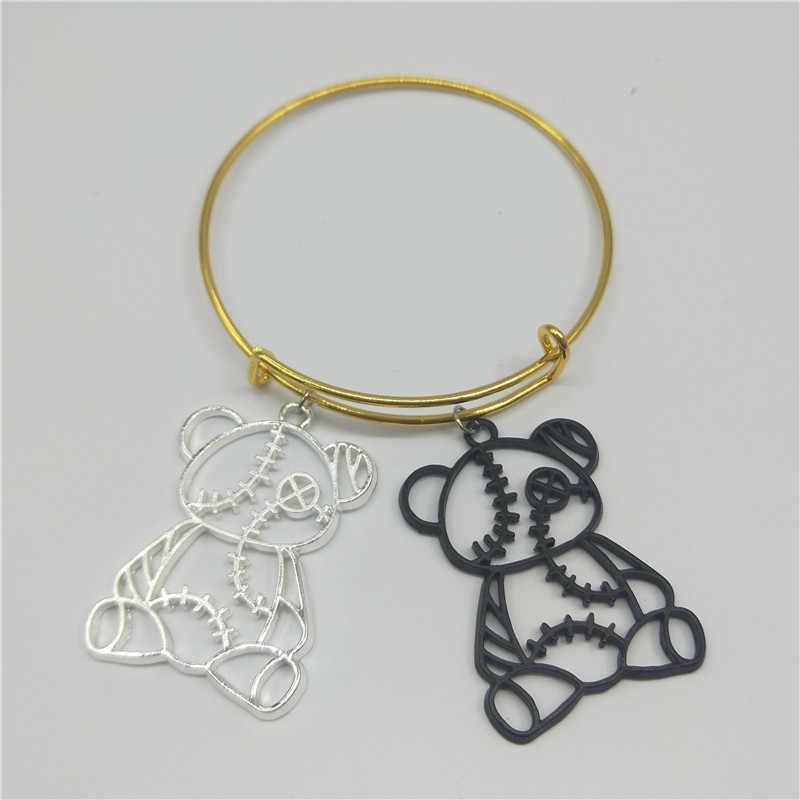 Europa en de Verenigde Staten hot koop schattige beer armband fashion hollow dames armband gift mannen en vrouwen sieraden