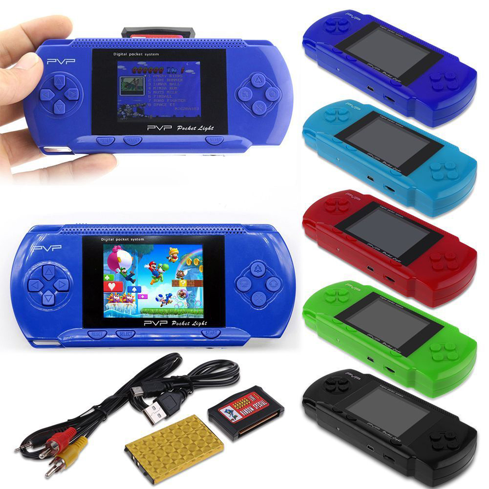 Portable retro game console PV 3000 handheld video game player card built-in 89 game 8 bit 2.8 inches for home TV