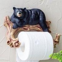 Towel rack bathroom toilet creative European bathroom roll holder toilet paper holder toilet bear cub tree branch toilet paper
