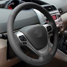 BANNIS Preto Cobertura de Volante de Couro Artificial DIY Mão-costurado para Toyota Avensis Verso EZ