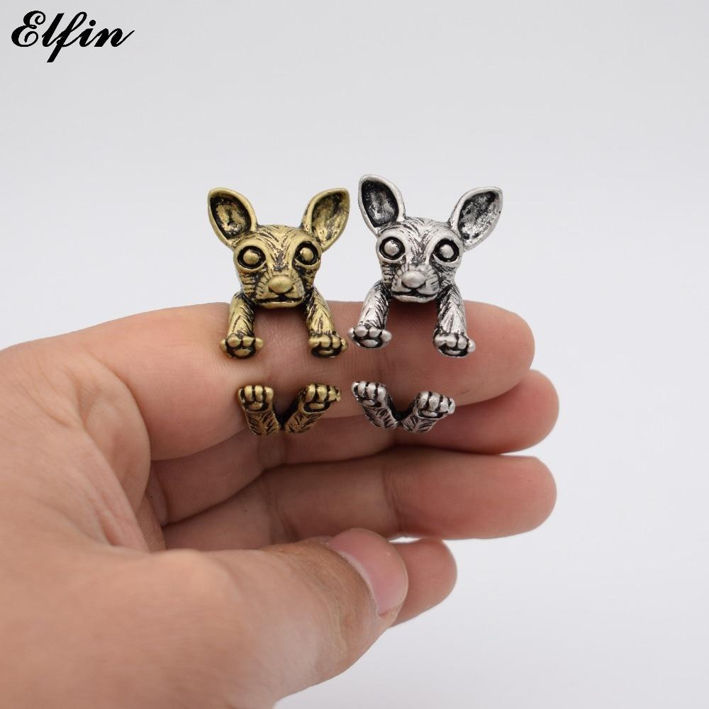 Elfin nouveau Vintage Chihuahua réglable mode anneaux pour femmes Antique hommes bijoux grand Animal anneau monde de Warcraft