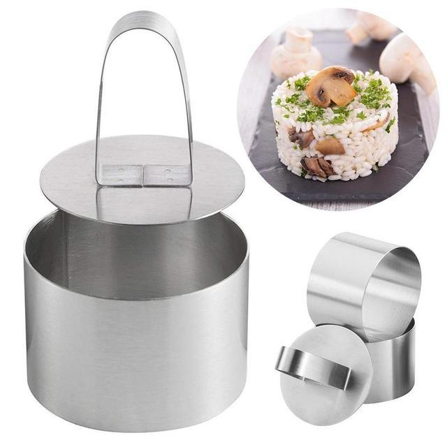 Molde para hornear ensalada, herramientas para hornear manualidades, molde para magdalenas, ensalada, postre, Mousse, anillo, pastel, queso, herramienta de acero inoxidable