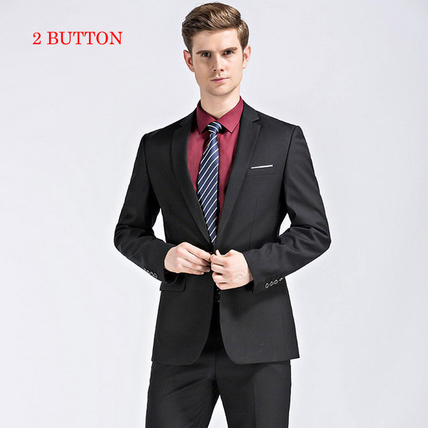 black with 2 button