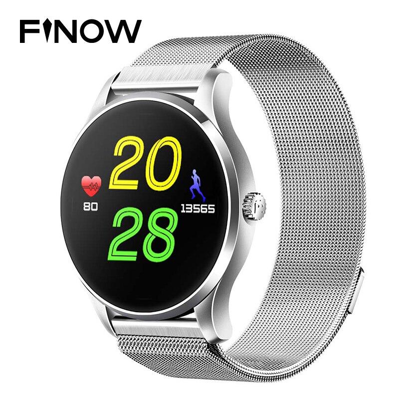 K88 montre intelligente Bluetooth Smartwatch étanche moniteur de fréquence cardiaque podomètre mode montre-bracelet intelligente avec micro pour IOS Android