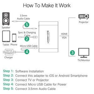 Image 5 - Ugreen HDMI VGA Adapter for iPhone iPad TV Lightning USB Audio Video HDMI Converter for iPhone to HDMI Adapter Lightning to HDMI