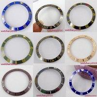 38mm Black Blue White Green High Quality Watch Bezel Insert For RLX Ceramic Bezel Insert For