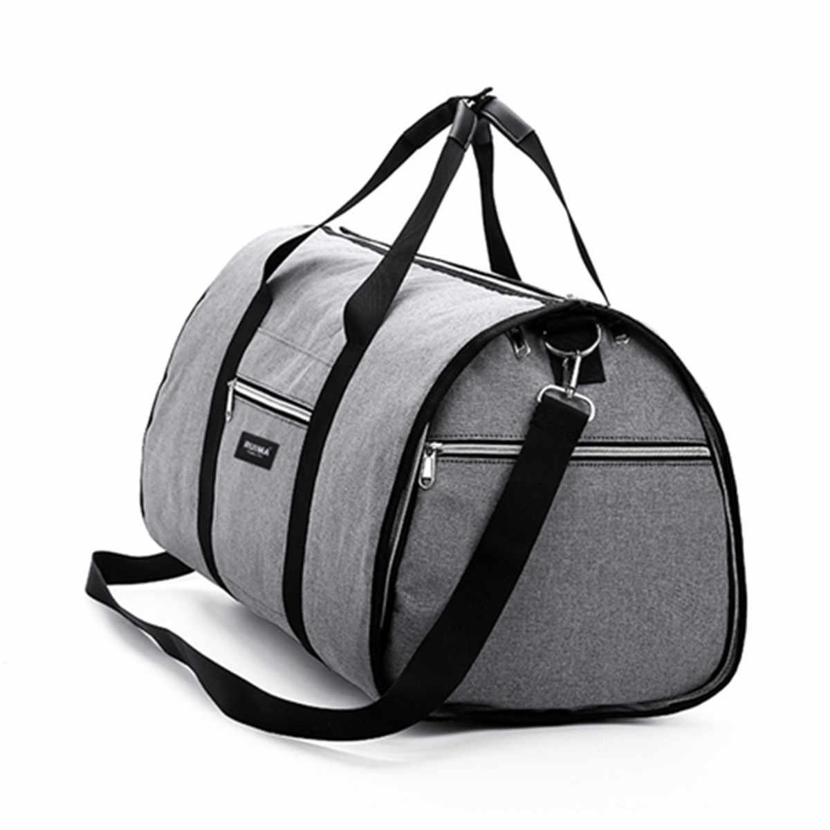 Saco de Ombro Das Mulheres Sacos de Viagem Saco de Viagem à prova d' água Mens Vestuário 2 Em 1 Grande Bagagem Duffel Totes Carry On Lazer saco de mão