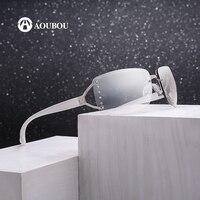 Original Brand Design Women S Sunglasses Vintage Rimless Glasses Brown Lenses Alloy White Frame Lunette De