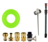 Spike Garden Hose Adaptor Lawn Nozzle With 10m PVC Garden Hose Water Spray With Garden Spray