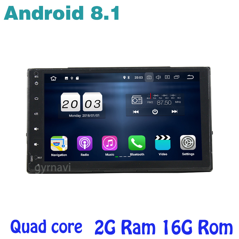 Android 8.1 Quad core Car DVD gps for toyota Fortuner Auris Corolla 2016 2018 with 2g ram wifi 4G usb BT mirror link Stereo